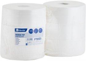 Papier toaletowy Merida Top, 2-warstwowy, 6 rolek, 23cmx245m, biały
