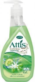 Mydło w płynie Attis, oliwka i ogórek, 400ml