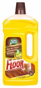 Płyn do mycia podłóg drewnianych  Floor z olejkiem Gold Drop, 1l, cytrynowy