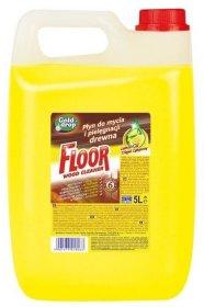 Płyn do mycia podłóg drewnianych Floor z olejkiem Gold Drop, 5l, cytrynowy