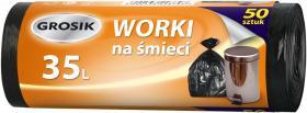 Worki na śmieci Grosik, HD, 35l, 50 sztuk, czarny