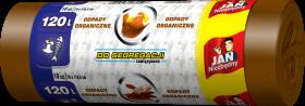 Worki na śmieci Jan Niezbędny, EP, 120l, 70x110cm, 10 sztuk, do segregacji odpadów organicznych, brązowy