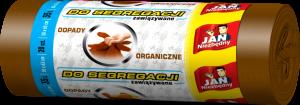 Worki na śmieci Jan Niezbędny, EP, 35l, 50x60cm, 20 sztuk, do segregacji odpadów organicznych, brązowy