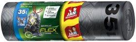 Worki na śmieci z taśmą Jan Niezbędny Magnum Flex&Strong, LDPE, 35l, 53x60cm, 15 sztuk, grafitowy