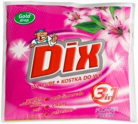 Kostka do WC z koszyczkiem Dix Gold Drop, kwiaty wiosenne, 35g