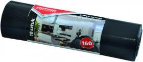 Worki na śmieci domowe Office Products, LDPE, 160l, 90x110cm, 10 sztuk, czarny