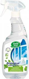 Płyn do mycia szyb Eco Line Gold Drop, z rozpylaczem, zielona herbata, 750ml