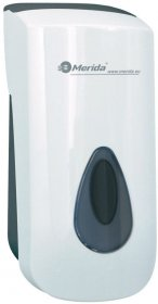 Dozownik do mydła w płynie Merida Top Mini, szare okienko, 9cmx19cmx9.8cm, 400ml, biały