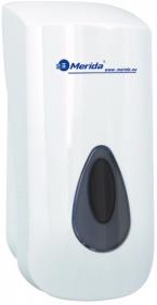 Dozownik do mydła w pianie Merida Top, okienko kolor szary, 11.5x25x11.5cm, 700ml, biały