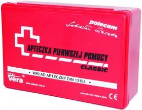 Apteczka uniwersalna Cerva, w pudełku, z wyposażeniem, czerwony