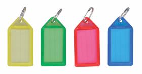 Zawieszki do kluczy Office Depot, duże, plastik, 50 sztuk, mix kolorów