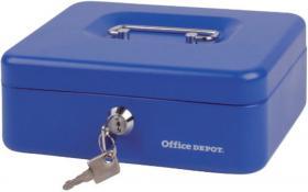 Kasetka na pieniądze Office Depot, 207x157x77mm, niebieski