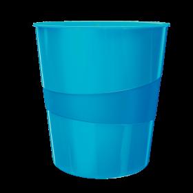 Kosz na śmieci Leitz Wow, 15L, niebieski