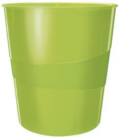 Kosz na śmieci Leitz Wow, 15L zielony metalik