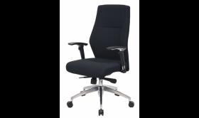 Fotel biurowy - gabinetowy Realspace Pro London, welur, czarny