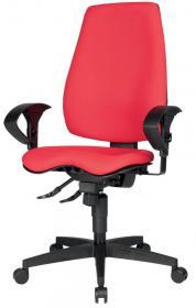 Krzesło obrotowe Realspace Pro Eiger Synchro, czerwony