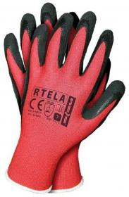 Rękawice robocze Zosia Gosposia Reis Rtela, rozmiar 7, czerwono-czarny