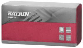Serwetki Katrin DecoSoft Uni, 40x40cm 1/8, 50 sztuk, burgund