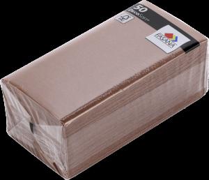 Serwetki Katrin DecoSoft Uni, 40x40cm 1/8, 50 sztuk, brązowy