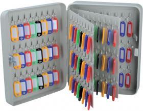 Szafka na klucze Office Depot, na 144 klucze, z zawieszkami, szary