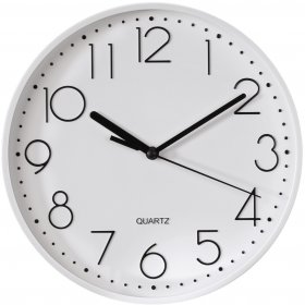 Zegar ścienny Hama PG-220, 22cm, tarcza kolor biały, rama kolor biały