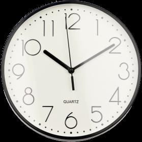 Zegar ścienny Hama PG-220, 22cm, tarcza kolor biały, obudowa kolor czarny