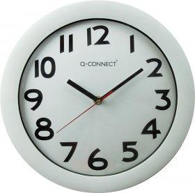 Zegar ścienny Q-Connect Budapest, 28cm, tarcza kolor biały, rama kolor biały