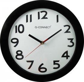 Zegar ścienny Q-Connect Tokyo, 28cm, tarcza kolor biały, rama kolor czarny