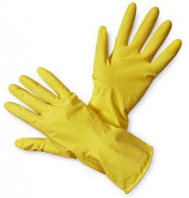 Rękawice lateksowe gospodarcze Zosia Gosposia, rozmiar L, 1 para, żółty