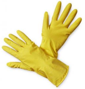 Rękawice lateksowe gospodarcze Zosia Gosposia, rozmiar M, 1 para, żółty (c)