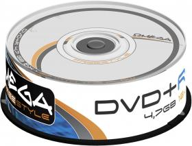 Płyta DVD+R Omega Freestyle, do jednokrotnego zapisu, 4.7 GB, cake box, 25 sztuk
