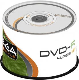 Płyta DVD-R Omega Freestyle, do jednokrotnego zapisu, 4.7 GB, cake box, 50 sztuk