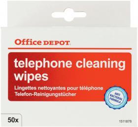 Chusteczki do czyszczenia telefonu Office Depot, 50 sztuk
