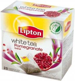 Herbata biała smakowa w piramidkach Lipton, granat, 20 sztuk x 1.5g