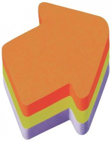Notes samoprzylepny Post-It strzałka, 225 karteczek, mix kolorów neonowych