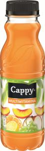 Napój niegazowany Cappy, multiwitamina, butelka PET, 0.33l
