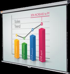 Ekran projekcyjny ścienny Nobo, 200x151.3cm (4:3)