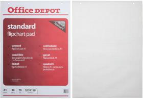 Blok do flipchartów Office Depot, 59.4x84.1cm, w kratkę, 40 kart