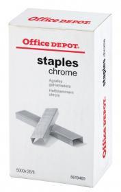Zszywki Office Depot 26/6, 5000 sztuk, srebrny