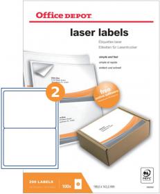 Etykiety do drukarek laserowych Office Depot 199.6 x 143.5 mm 100 ark.