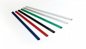 Grzbiety wsuwane Argo Standard, 4mm, do 25 kartek, 50 sztuk, zielony