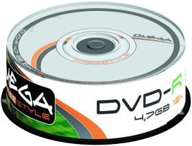 Płyta DVD-R Omega Freestyle, do jednokrotnego zapisu, 4.7 GB, cake box, 25 sztuk