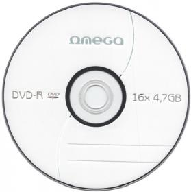 Płyta DVD-R Omega, do jednokrotnego zapisu, 4.7 GB, koperta, 1 sztuka