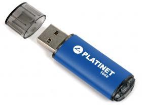 Pendrive aluminiowy Platinet X-Depo, 16GB, USB 2.0, niebieski