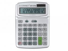 Kalkulator biurowy Q-connect KF15758, 12 cyfr, szary