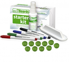 Zestaw startowy do tablic Ecoboards, 2x3, magnesy, markery, filce, środek czyszczący