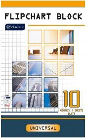 Blok do flipchartów Interdruk, 100x64cm, gładki, 10 kart