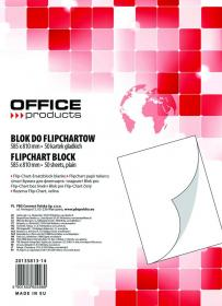 Blok do flipchartów Office Products, 58.5x81cm, gładki, 50 kart