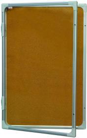 Gablota korkowa 2x3, w ramie aluminiowej, 60x90cm, brązowy