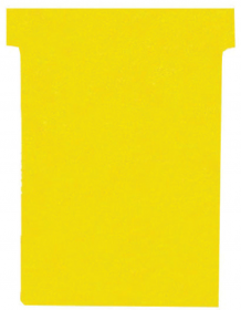 Karteczki do planerów T-card Nobo, rozmiar 2, 60mm, 100 sztuk, żółty
